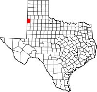 Small map of Bailey county