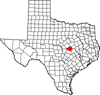 Small map of Bell county
