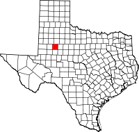 Small map of Borden county