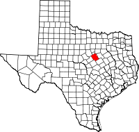Small map of Bosque county