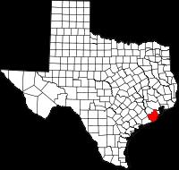 Small map of Brazoria county