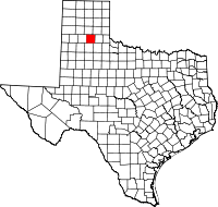 Small map of Briscoe county