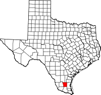 Small map of Brooks county