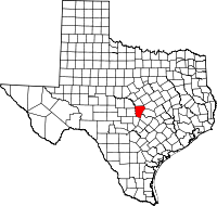 Small map of Burnet county