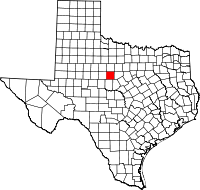 Small map of Callahan county