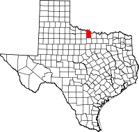 Small map of Clay county