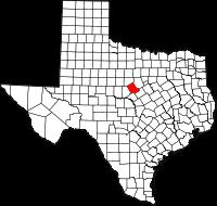 Small map of Comanche county