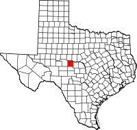 Small map of Concho county