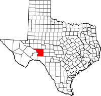 Small map of Crockett county