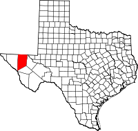 Small map of Culberson county