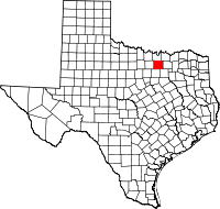 Small map of Denton county
