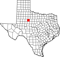 Small map of Fisher county