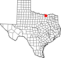 Small map of Grayson county