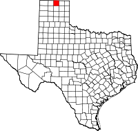 Small map of Hansford county