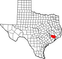 Small map of Harris county