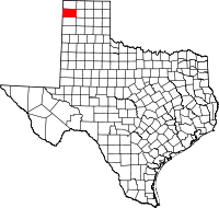 Small map of Hartley county