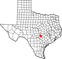Small map of Hays county