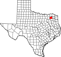 Small map of Hopkins county