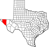 Small map of Hudspeth county