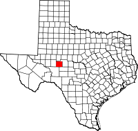 Small map of Irion county