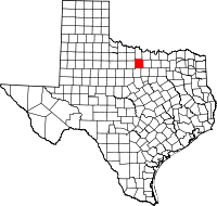 Small map of Jack county