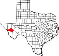 Small map of Jeff Davis county