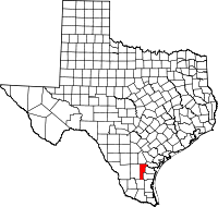 Small map of Jim Wells county