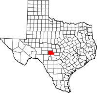 Small map of Kimble county