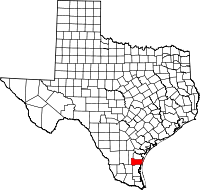 Small map of Kleberg county