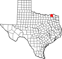 Small map of Lamar county