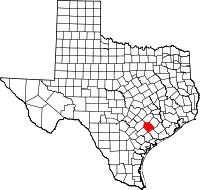 Small map of Lavaca county