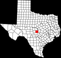 Small map of Llano county