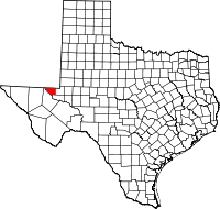 Small map of Loving county