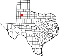 Small map of Lubbock county