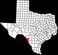 Small map of Maverick county