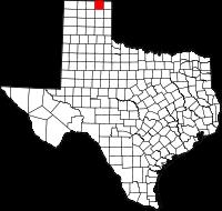 Small map of Ochiltree county