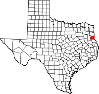 Small map of Panola county