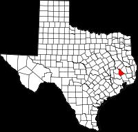 Small map of San Jacinto county