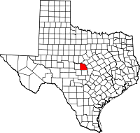 Small map of San Saba county
