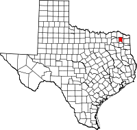 Small map of Titus county