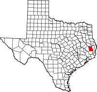 Small map of Tyler county