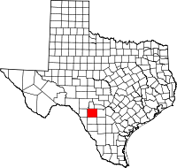 Small map of Uvalde county