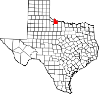 Small map of Wilbarger county