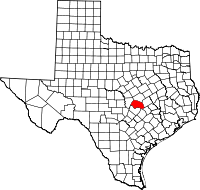Small map of Williamson county