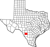 Small map of Zavala county